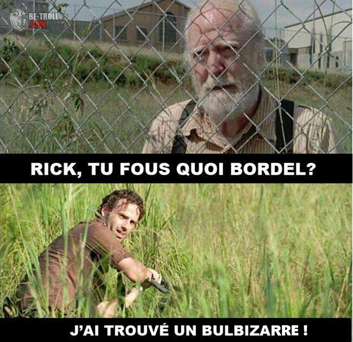 the walking dead meme rick bulbizarre pokemon