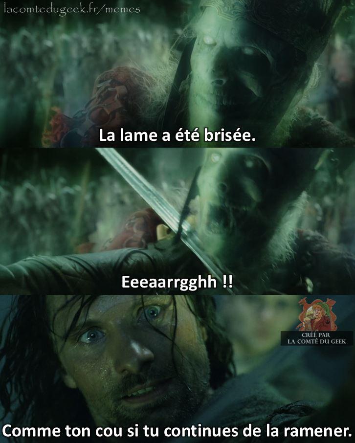 Le Seigneur des Anneaux Aragorn la lame d'isildur