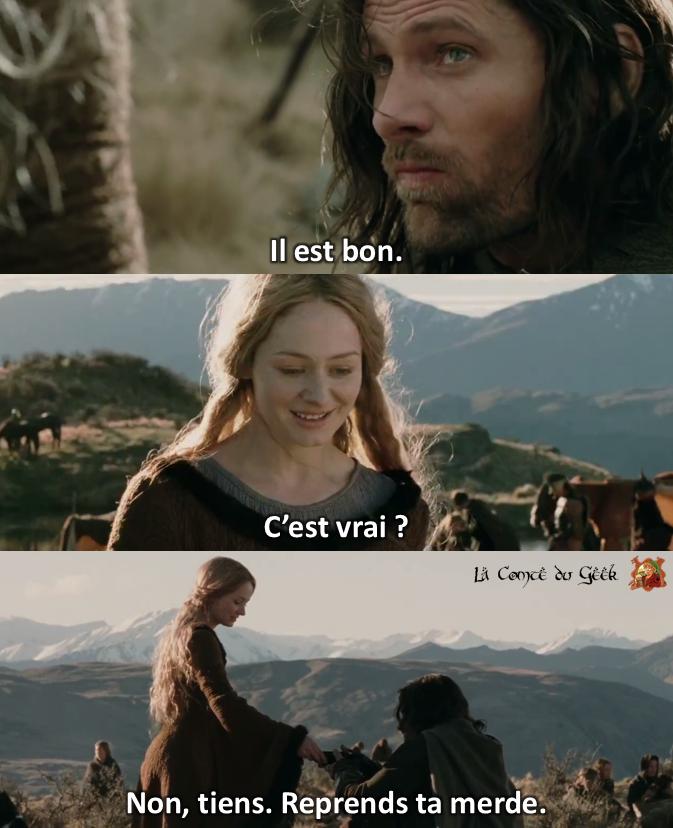 Le Seigneur des Anneaux clash Aragorn vs Eowyn