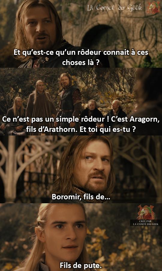 Le Seigneur des Anneaux clash Legolas vs Boromir