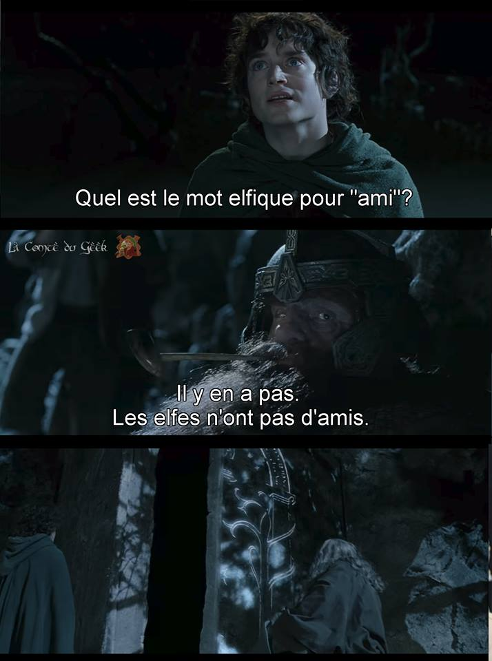 Le Seigneur des Anneaux clash Gimli vs les Elfes