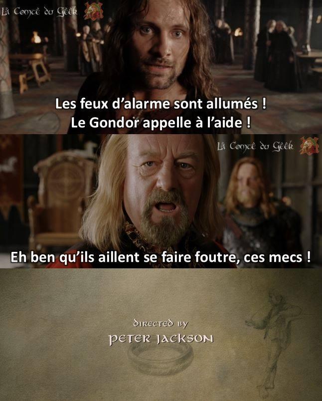 Le Seigneur des Anneaux fin alternative Aragorn Théoden