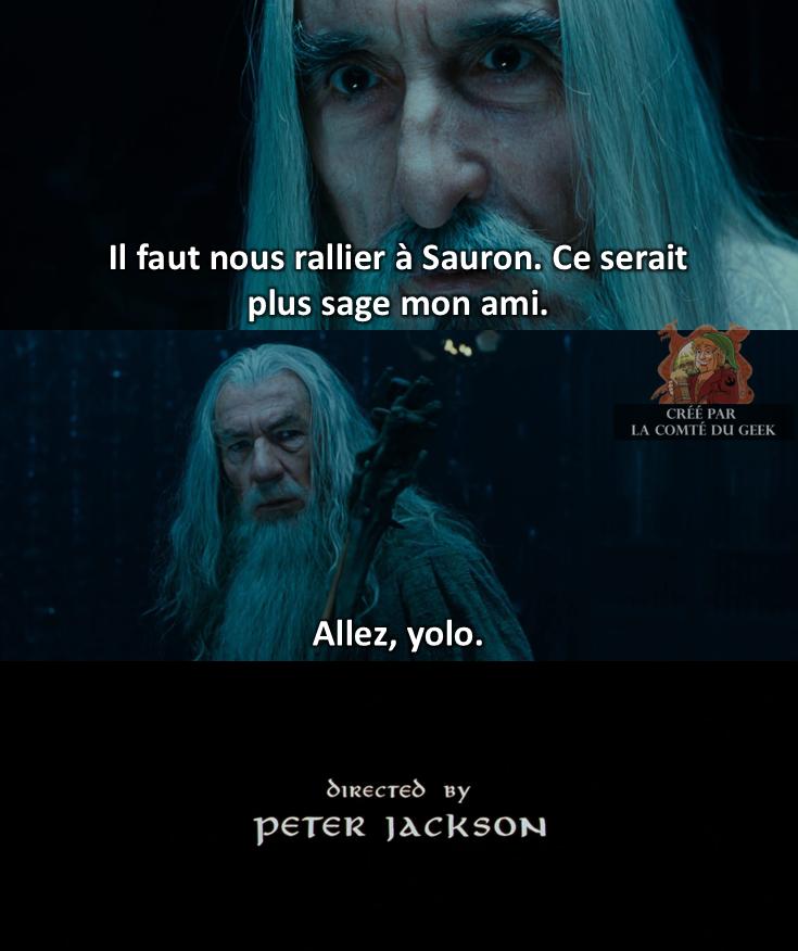 Le Seigneur des Anneaux fin alternative Gandalf Saruman