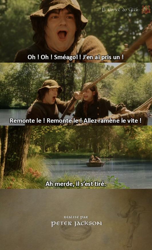Le Seigneur des Anneaux fin alternative Sméagol pêche anneau