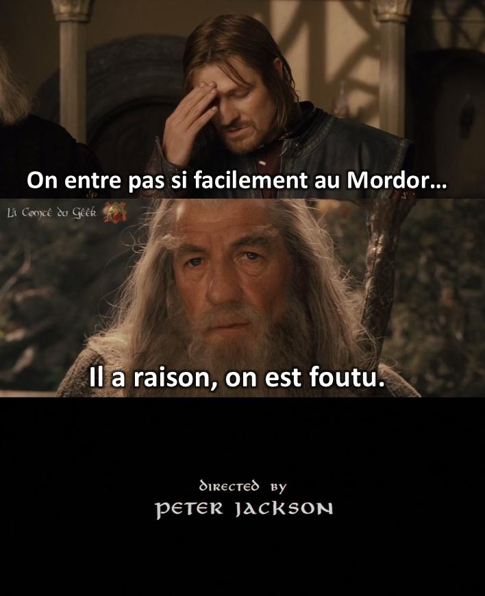 Le Seigneur des Anneaux fin alternative Boromir Gandalf