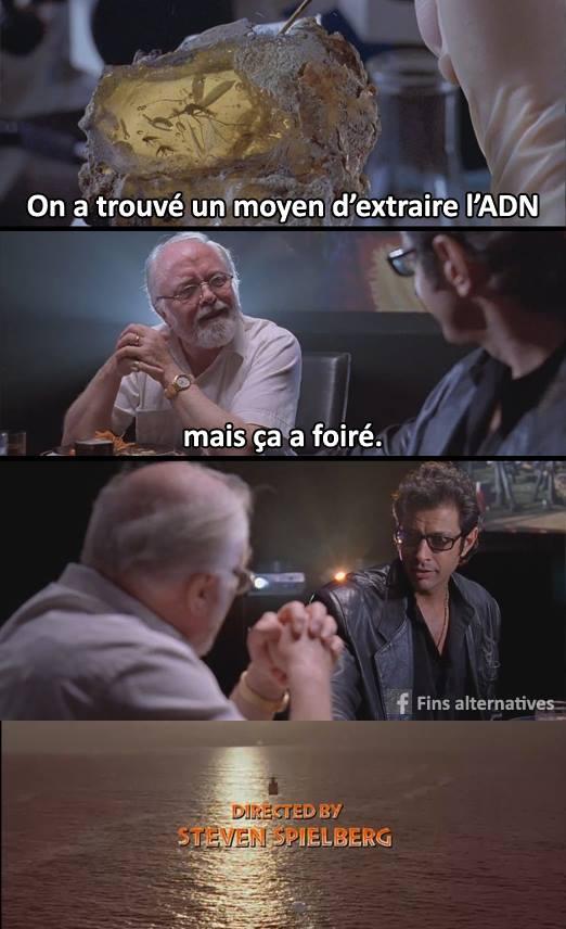 Jurassic Park ADN humour