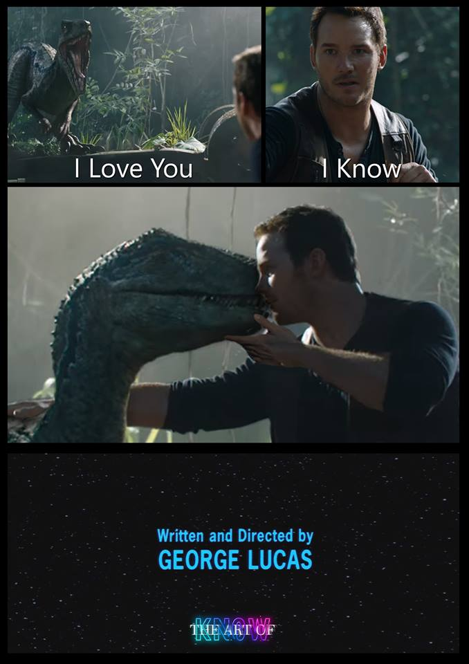 Jurassic Park fin alternative star wars meme