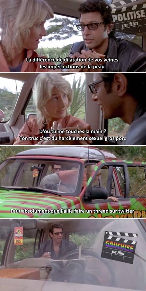 Jurassic Park meme Politise un film