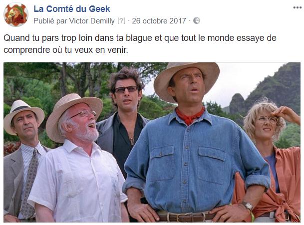 Jurassic Park humour blague