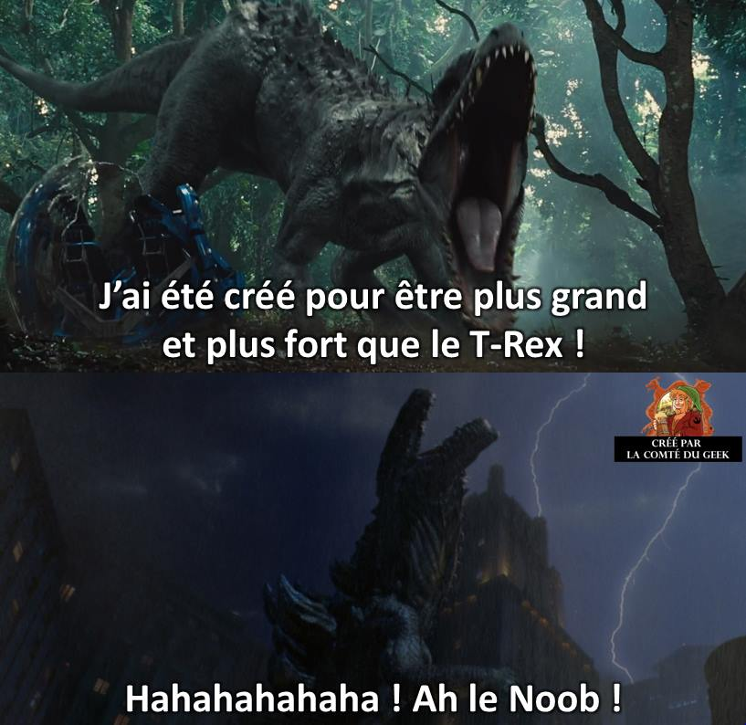Jurassic World Godzilla meme humour