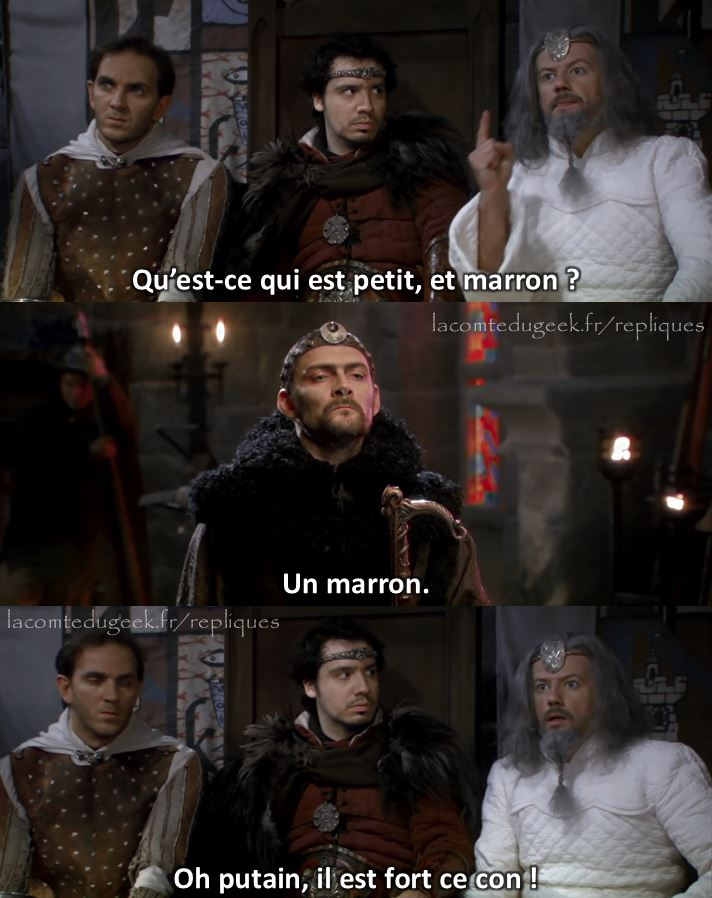 kaamelott réplique merlin elias un marron