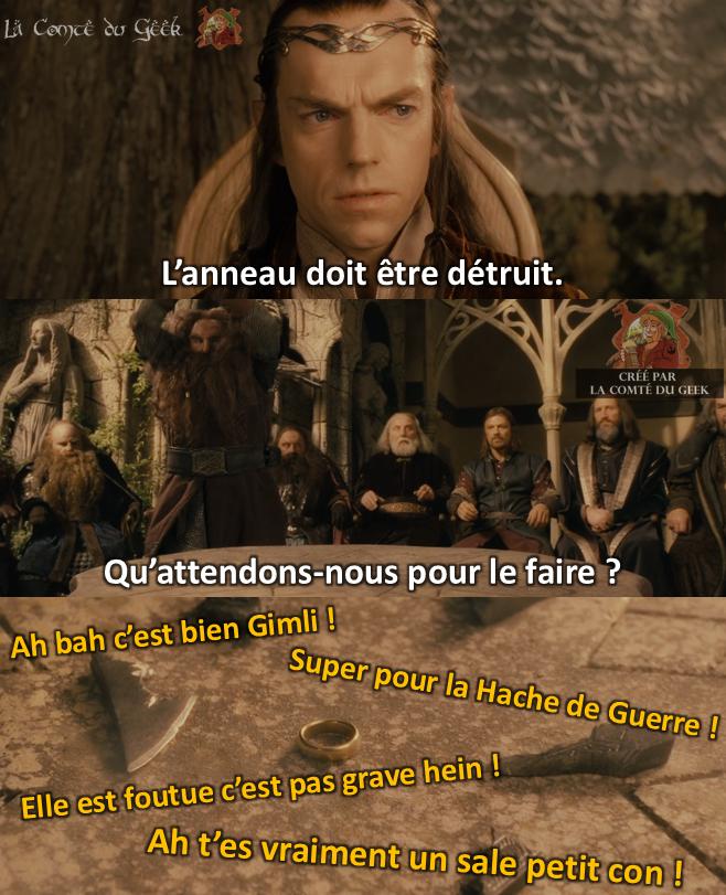 Le Seigneur des Anneaux meme humour absurde
