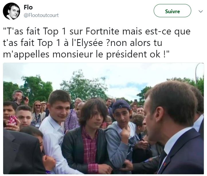 macron meme top 1 élysée clash gamin