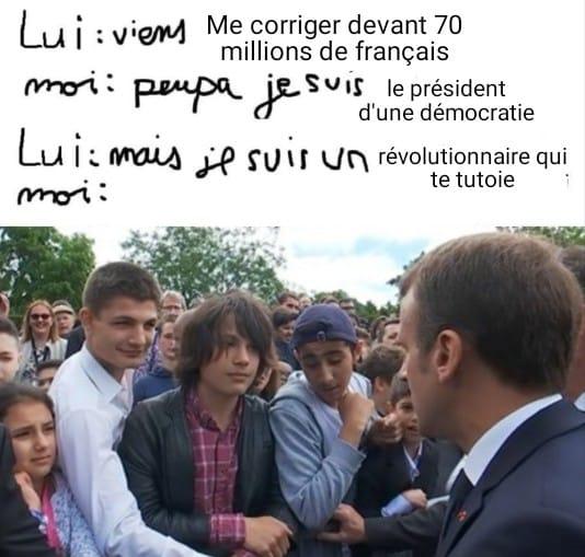 Macron clash gamin meme