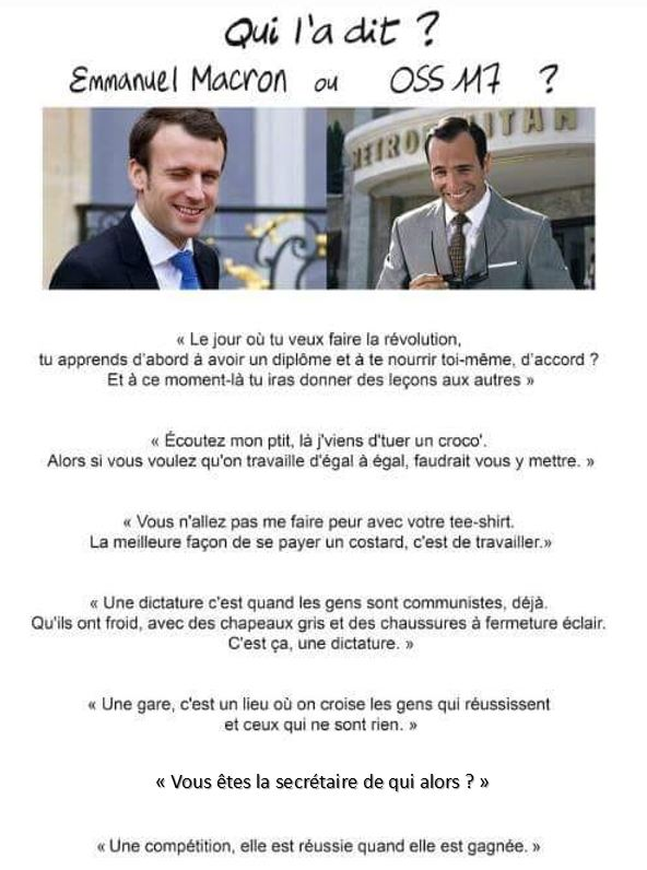 Macron clash gamin meme oss 117