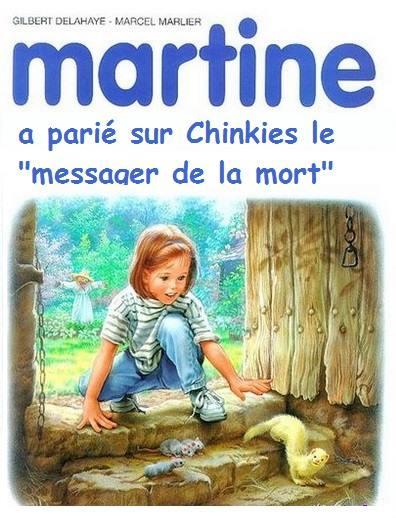 Martine Kaamelott humour pari chinkies messager de la mort