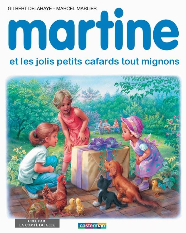 Martine Kaamelott humour cafards cadeau