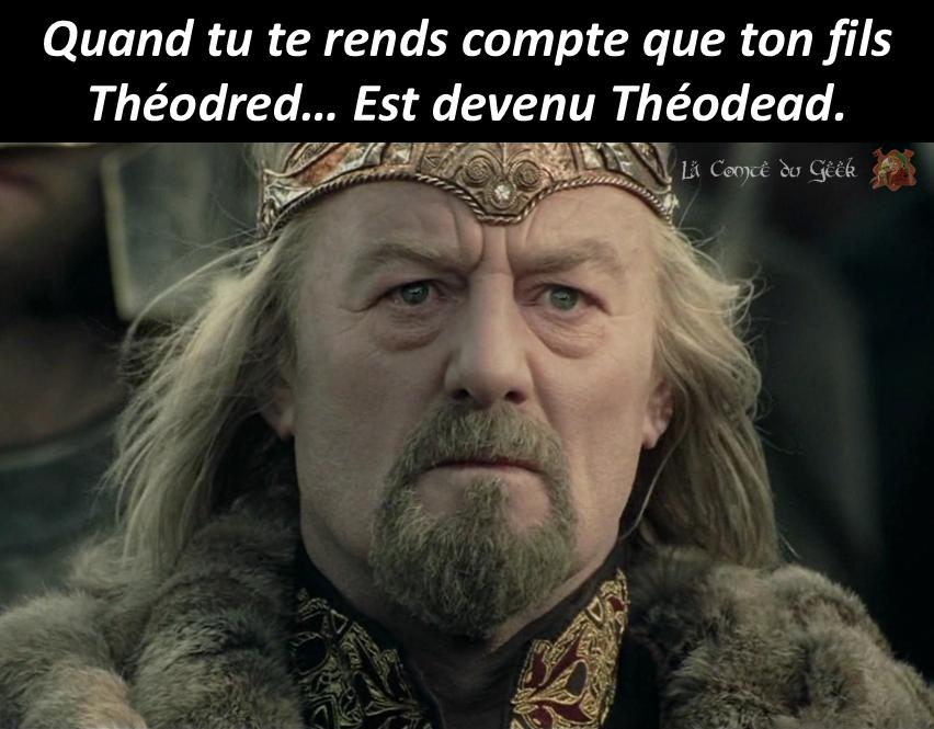 Le Seigneur des Anneaux meme Théoden humour geek