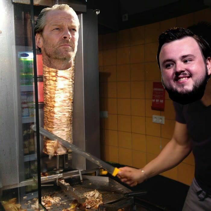 Game of Thrones humour noir Jorah Samwell Tarly meme kebab