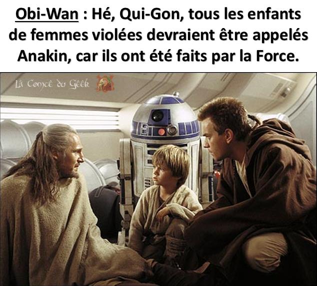 Star Wars meme humour noir geek