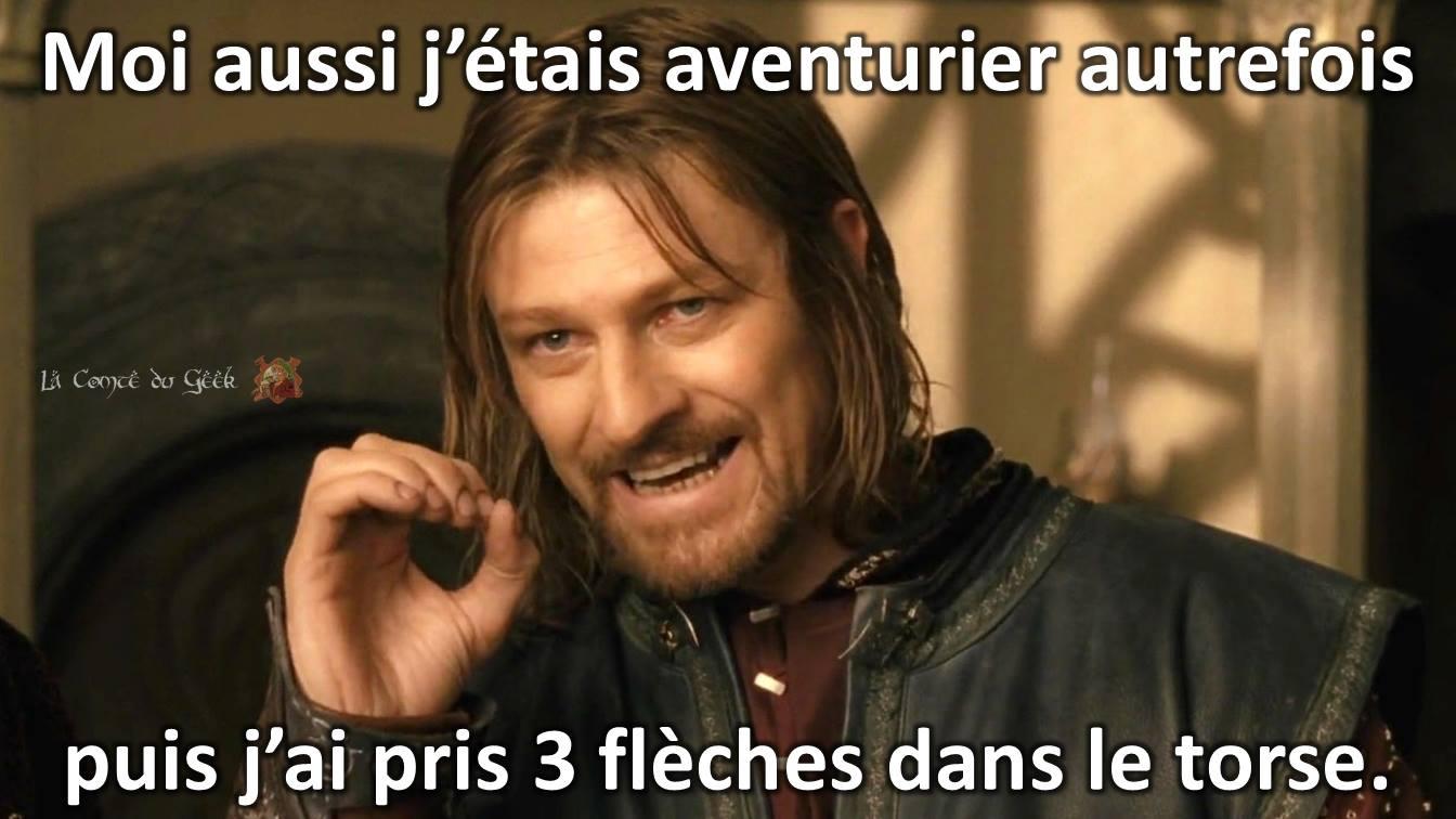 Le Seigneur des Anneaux Skyrim meme Boromir Humour Noir