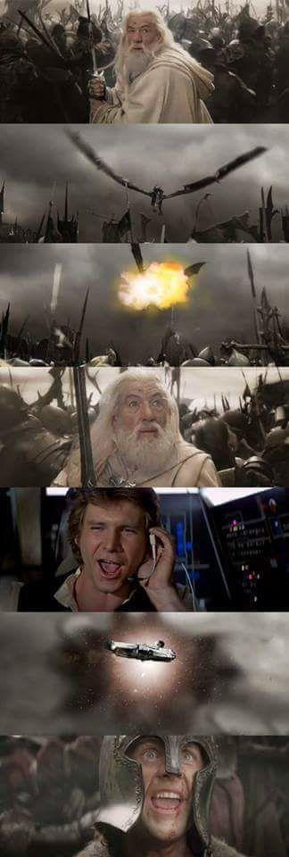 star wars le seigneur des anneaux crossover