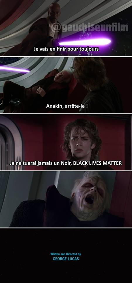 Star Wars meme fin alternative politique anakin mace windu