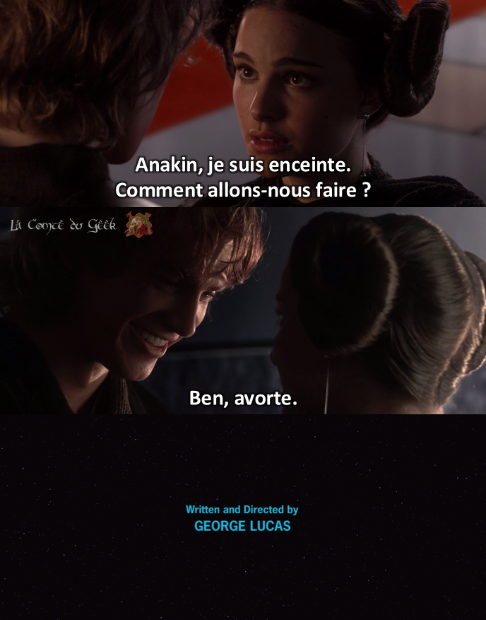 Star Wars meme Fin Alternative Anakin Padme avorte