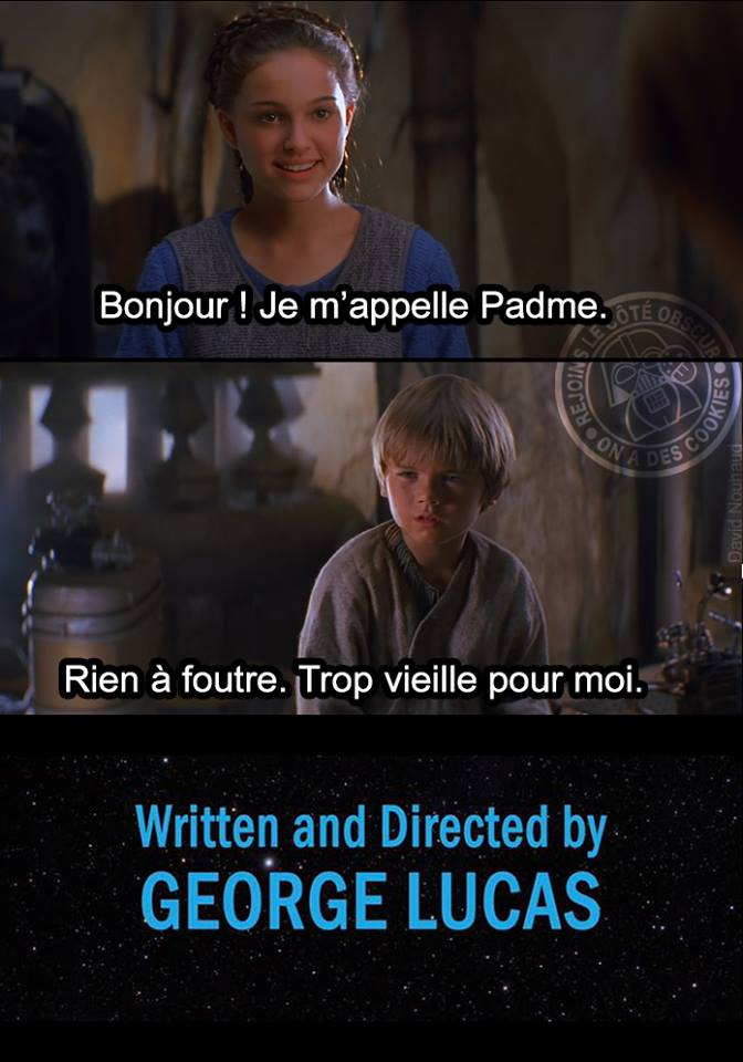 Star Wars meme Fin Alternative Padme Anakin