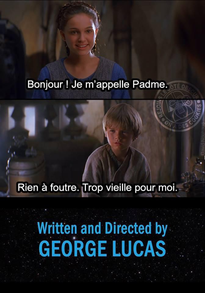 Star Wars meme Fin Alternative Padme Anakin
