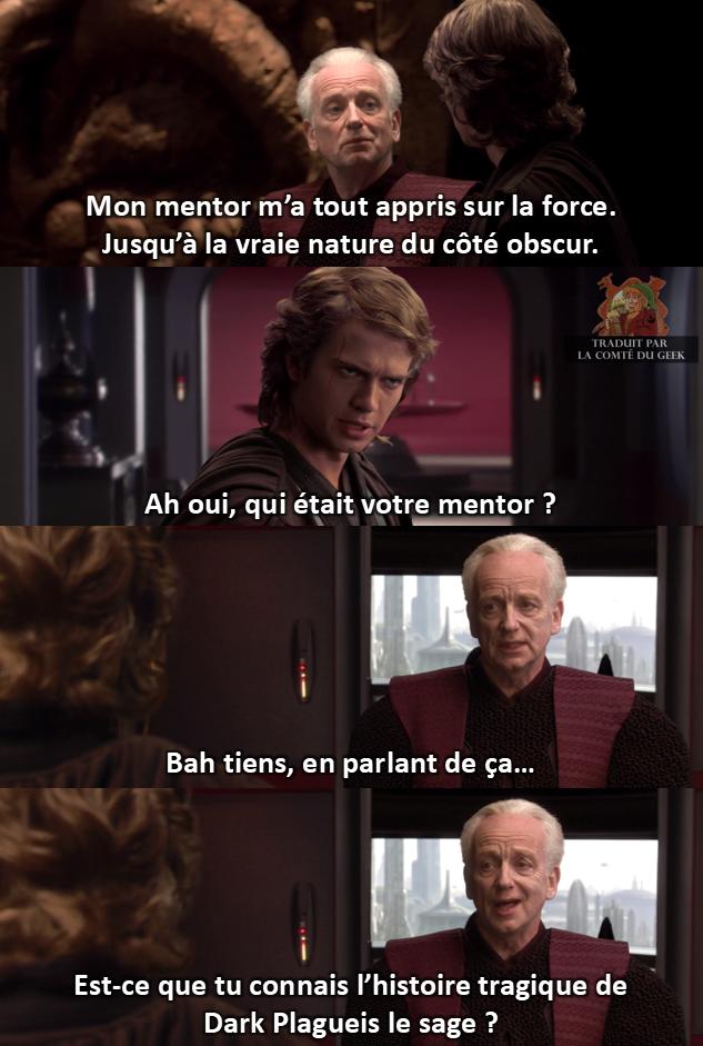 Star Wars meme Anakin Palpatine mentor