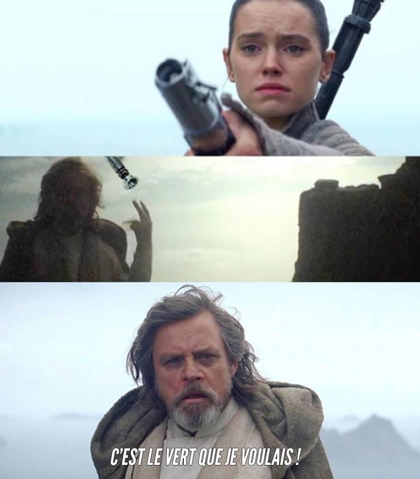 Star Wars meme rey luke sabre laser