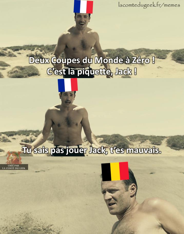 Coupe du Monde France Belgique meme OSS 117