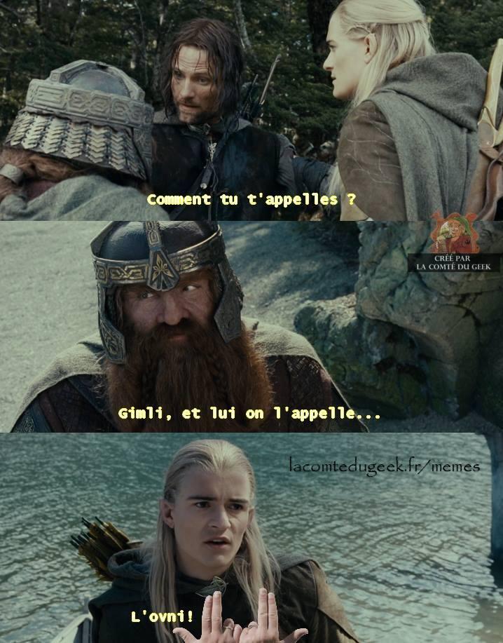 Le Seigneur des Anneaux Legolas Jul l'ovni humour