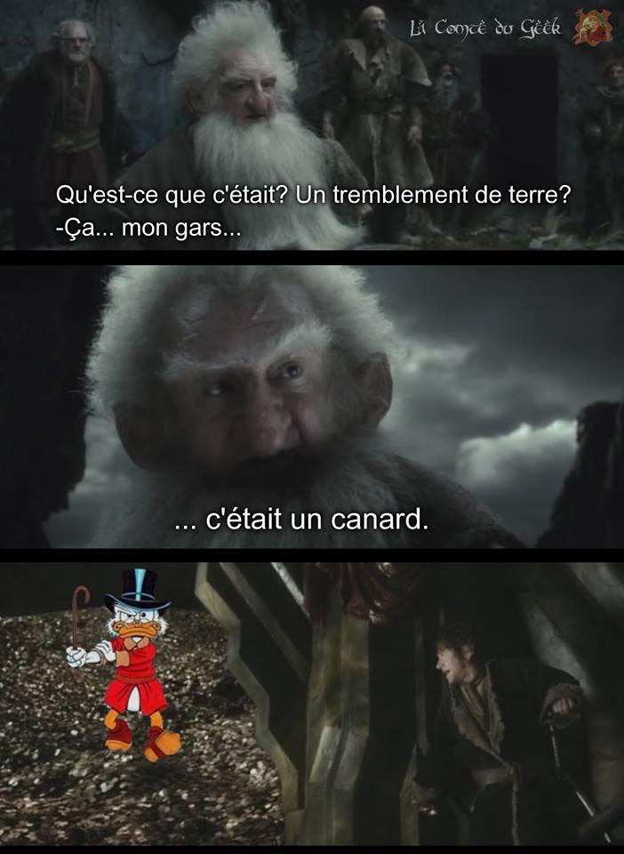 Le Seigneur des Anneaux humour smaug picsou