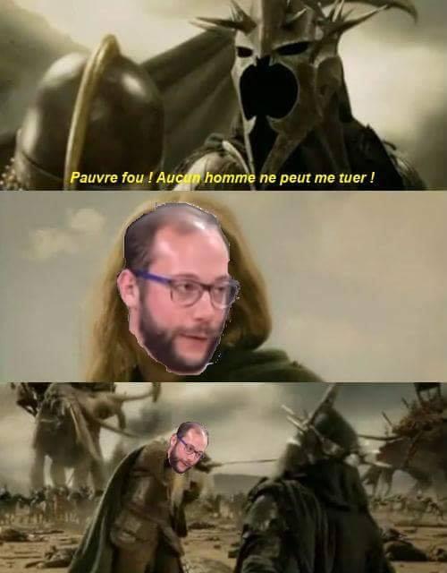 Le Seigneur des Anneaux je ne suis pas un homme meme humour