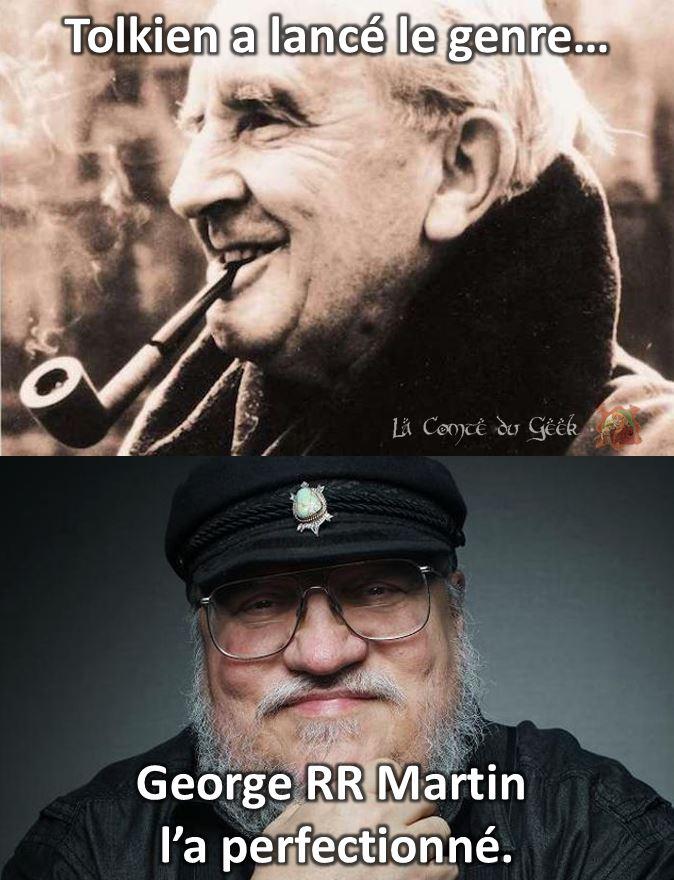 Tolkien george rr martin le seigneur des anneaux vs game of thrones