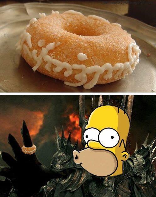 Homer Sauron Le Seigneur des Anneaux humour