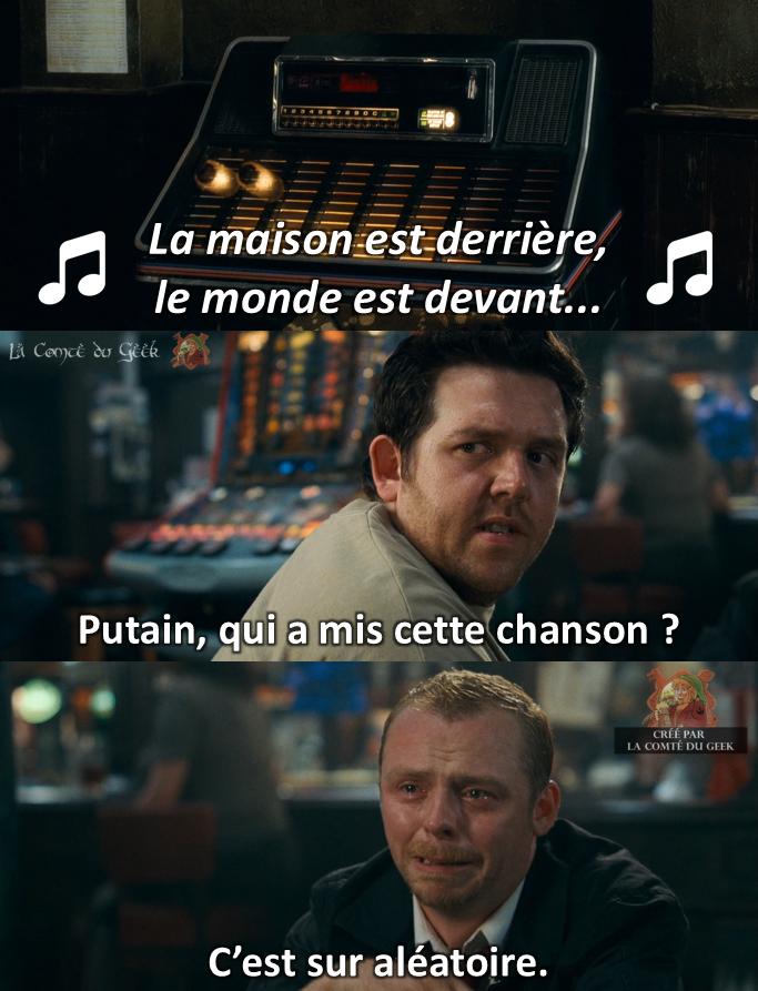 Le seigneur des Anneaux meme Shaun of the dead humour