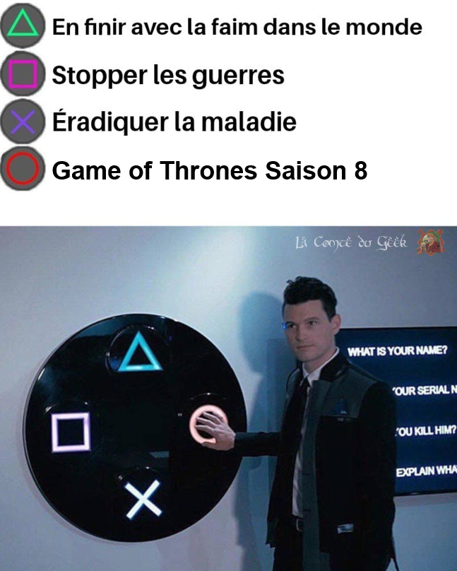 Game of Thrones saison 8 humour