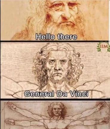 Star Wars meme Leonard de Vinci