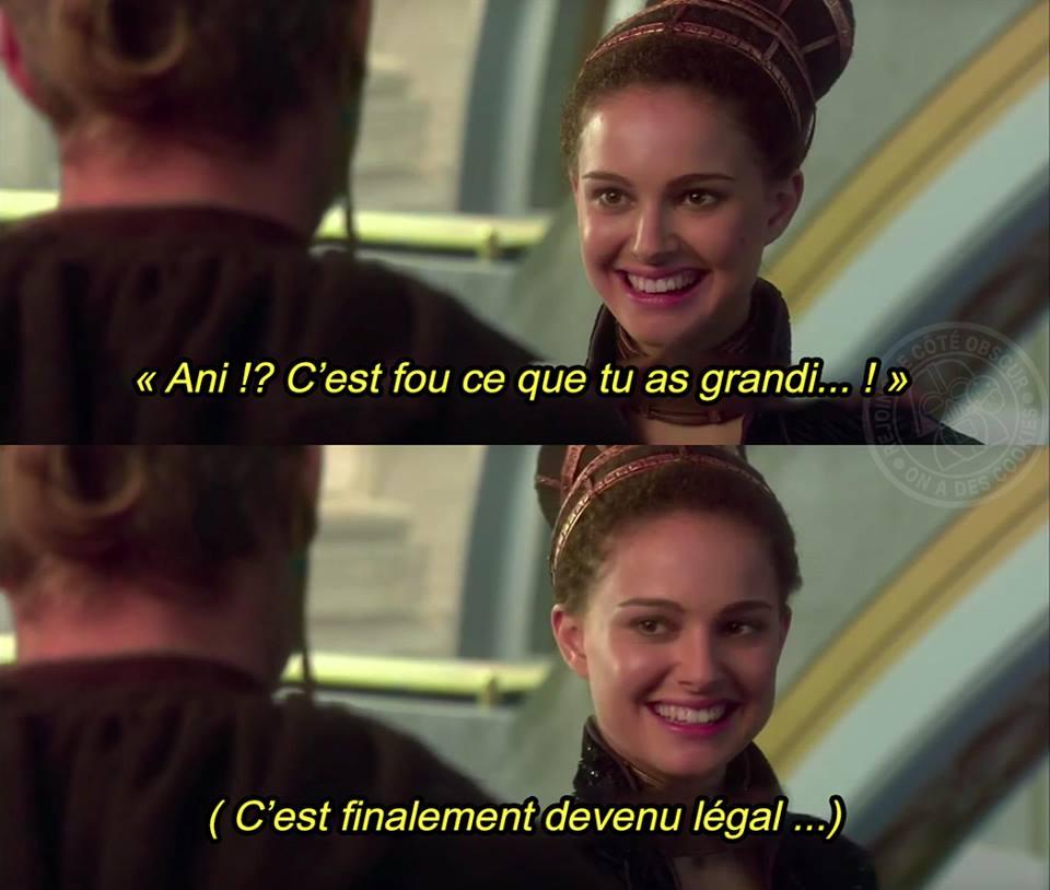 Star Wars meme Padme Anakin