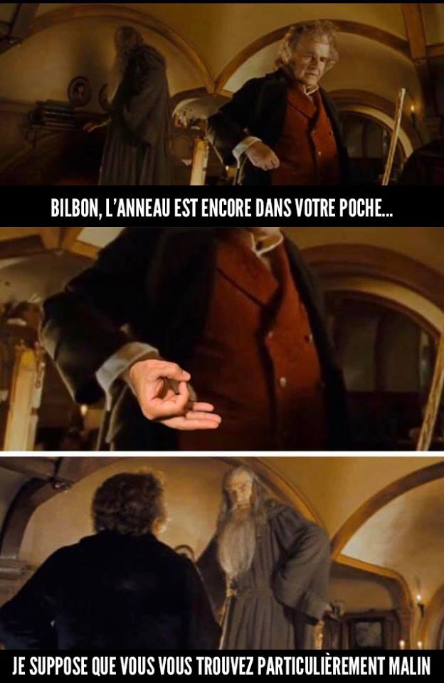 Le Seigneur des anneaux bilbon gandalf humour