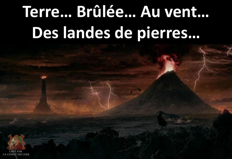 Seigneur des Anneaux Mordor humour Sardou Connemara