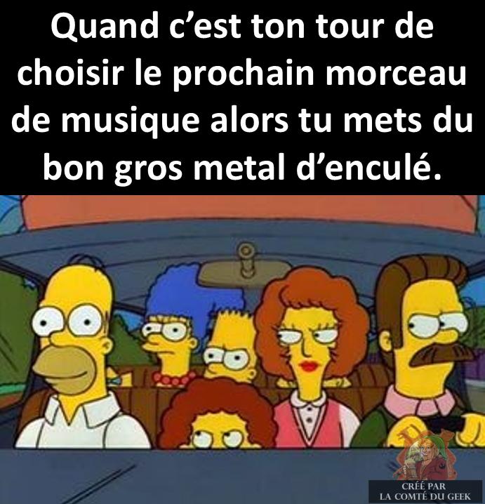 Simpsons metal meme