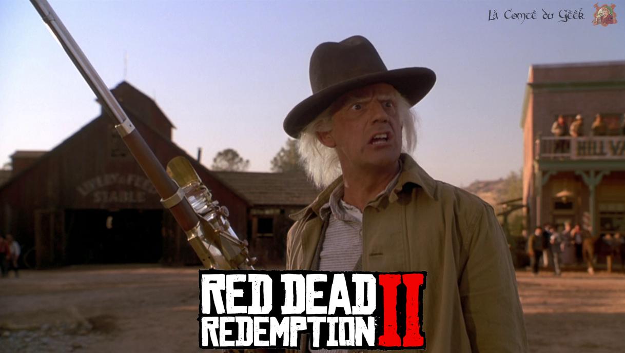 red dead redemption 2 retour vers le futur doc brown