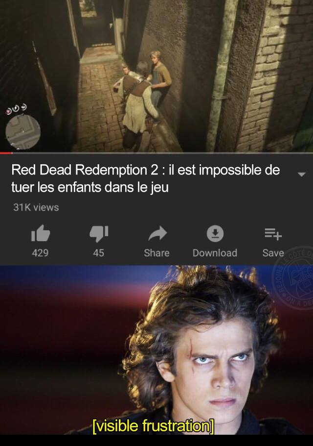 red dead redemption 2 star wars anakin humour