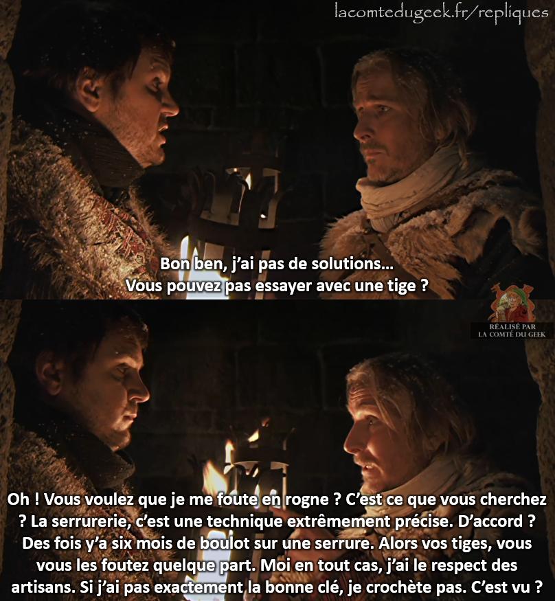 Kaamelott Perceval crocheter serrure