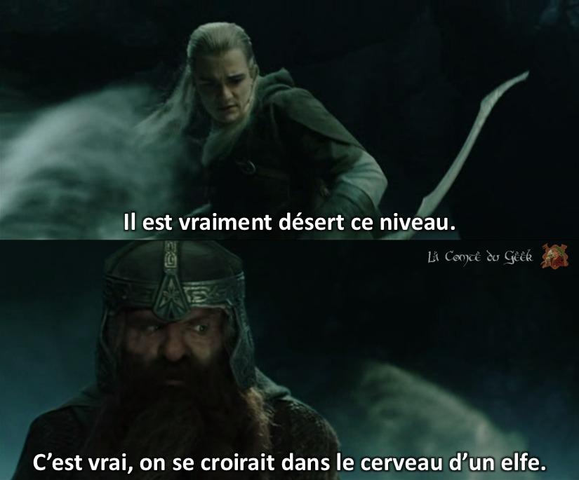 seigneur des anneau naheulbeuk cerveau d'un elfe nain