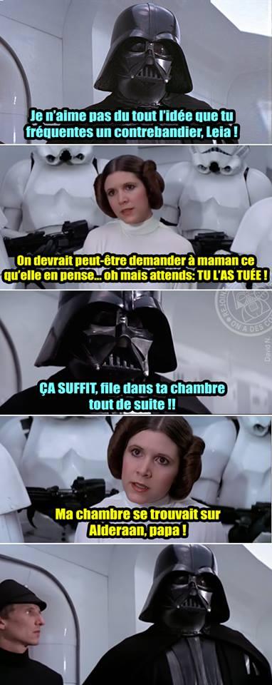 Star Wars meme Dark Vador Alderaan Leia